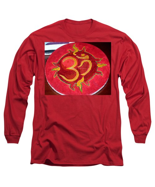 Long Sleeve T-Shirt featuring the painting The Omnipotent Aumkar by Sonali Gangane