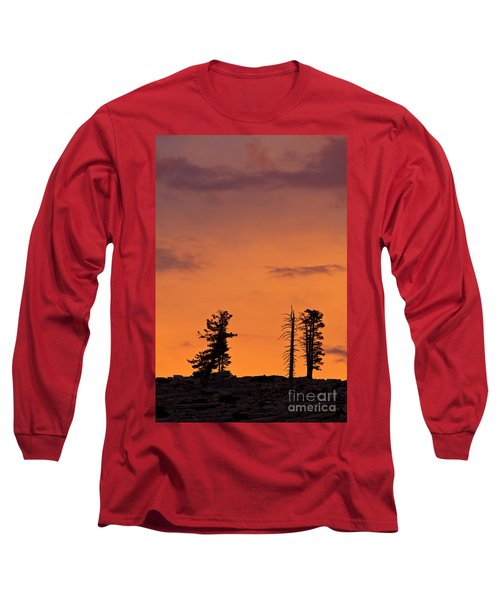Trees At Sunset Long Sleeve T-Shirt