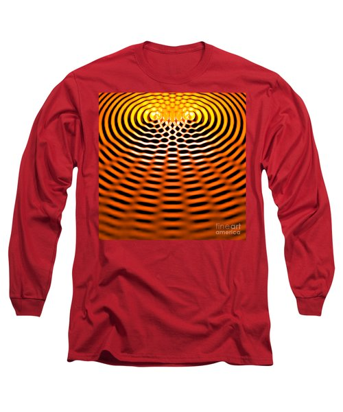 Waves Superpositioning 4 Long Sleeve T-Shirt by Russell Kightley