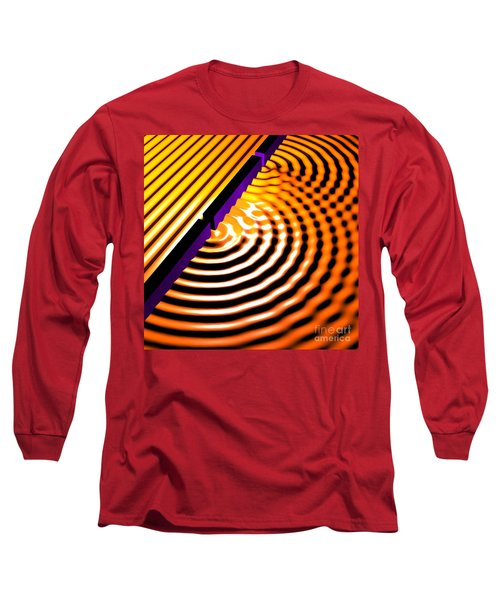 Waves Two Slit 2 Long Sleeve T-Shirt by Russell Kightley