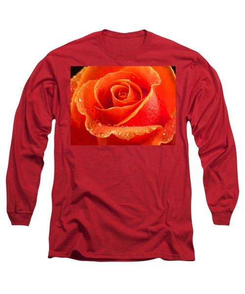 Wet Rose Long Sleeve T-Shirt by Jean Noren