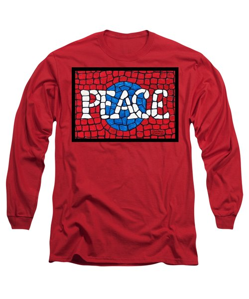 Long Sleeve T-Shirt featuring the painting World Peace by Cynthia Amaral