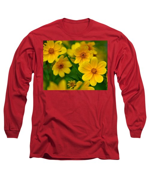 Long Sleeve T-Shirt featuring the photograph Yellow Flowers by Marty Koch