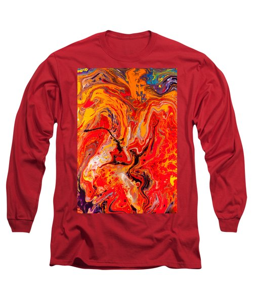 Belly Dancers - Abstract Colorful Mixed Media Painting Long Sleeve T-Shirt