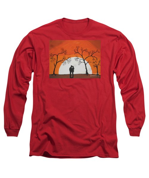 Long Sleeve T-Shirt featuring the painting  First Kiss by Jeffrey Koss