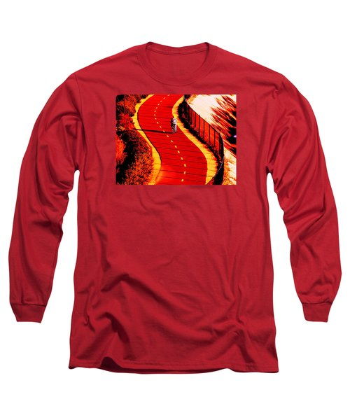 Long Sleeve T-Shirt featuring the photograph  Red Path  by John King