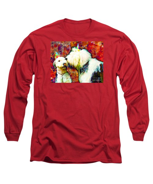 A Birthday Kiss Long Sleeve T-Shirt by Alene Sirott-Cope