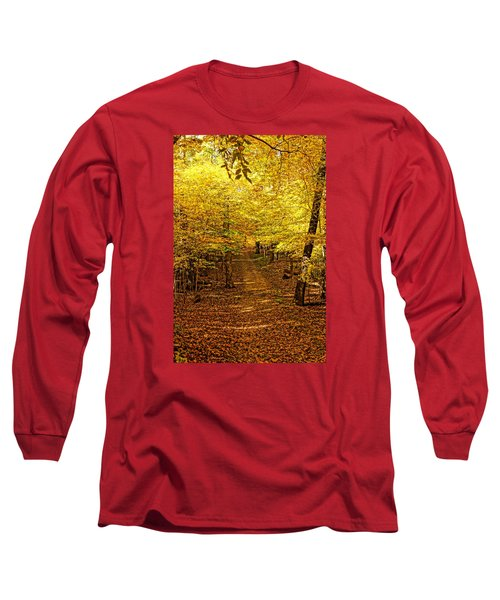 A Walk In The Woods Long Sleeve T-Shirt by Steven Clipperton