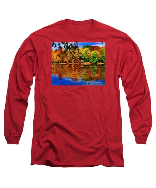 Long Sleeve T-Shirt featuring the painting Autumn Serenity Painted by Diane E Berry