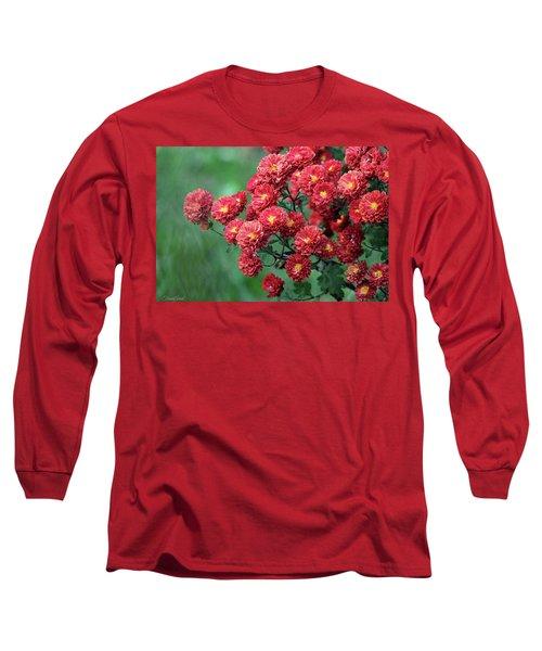 Beautiful Red Mums Long Sleeve T-Shirt