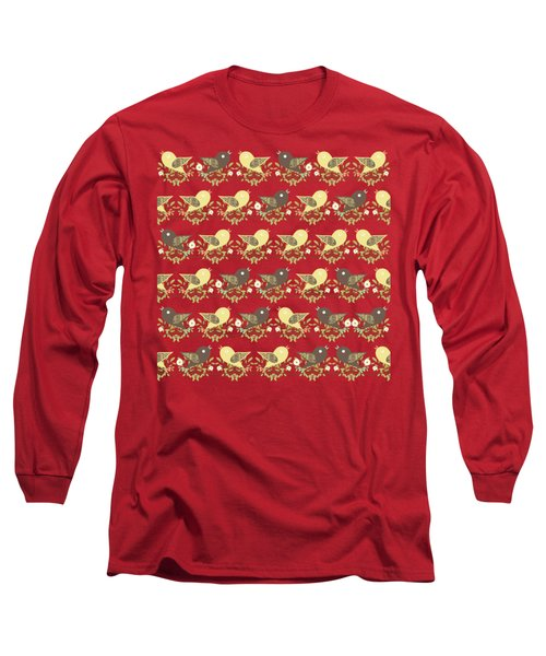 Birds Pattern Long Sleeve T-Shirt