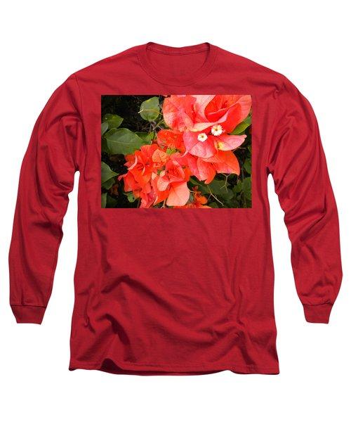 Bouganvilla 1 Long Sleeve T-Shirt by Renate Nadi Wesley