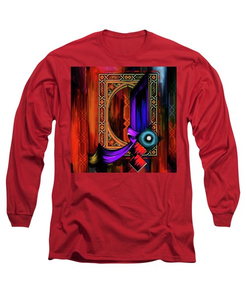 Long Sleeve T-Shirt featuring the painting Calligraphy 100 2 by Mawra Tahreem