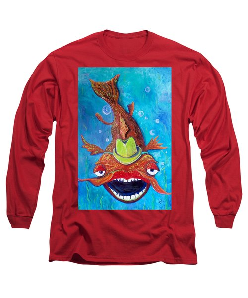 Catfish Clyde Long Sleeve T-Shirt by Vickie Scarlett-Fisher