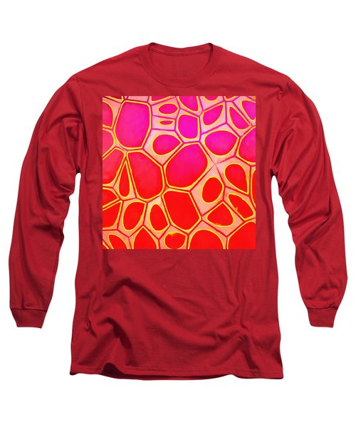 Cells Abstract Three Long Sleeve T-Shirt by Edward Fielding