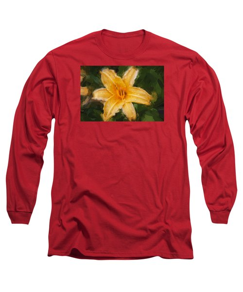 Daylily Hemerocallis Stella De Oro  Long Sleeve T-Shirt by Rich Franco