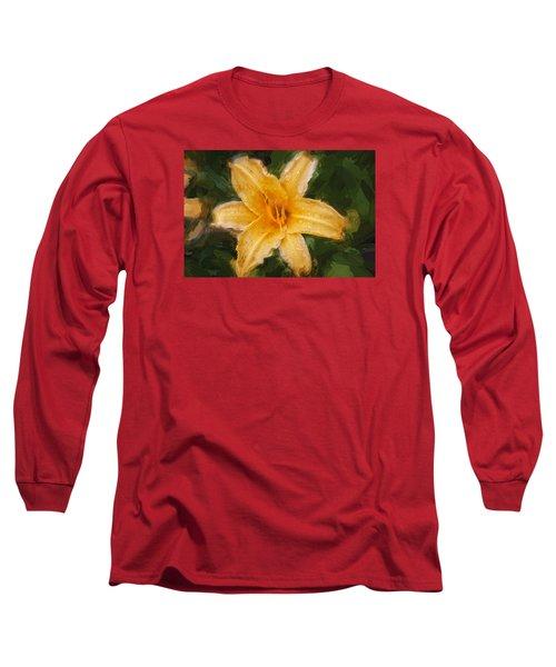 Daylily Hemerocallis Stella De Oro  Long Sleeve T-Shirt