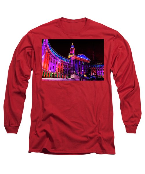 Denver City And County Building Holiday Lights Long Sleeve T-Shirt