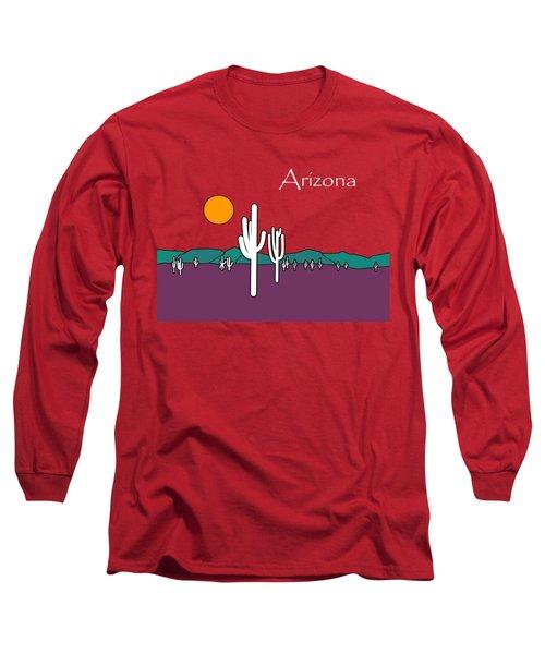 Desert Sunset Long Sleeve T-Shirt by Methune Hively