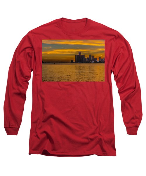 Detroit Sunset Long Sleeve T-Shirt