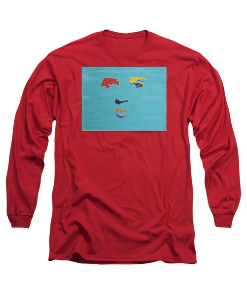 Elvis In The Sky Long Sleeve T-Shirt by Stormm Bradshaw
