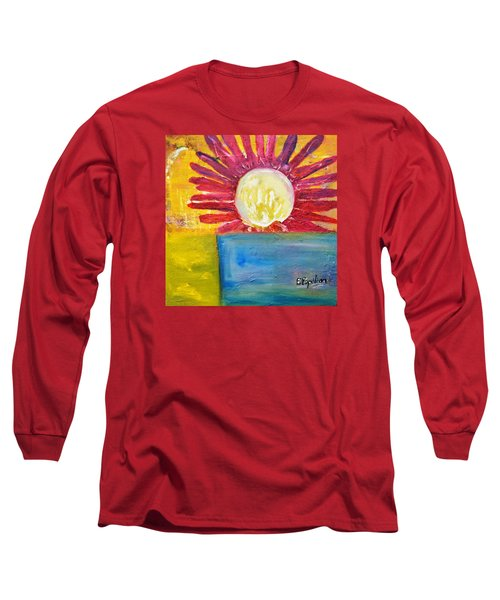 Long Sleeve T-Shirt featuring the painting Floral by Evelina Popilian