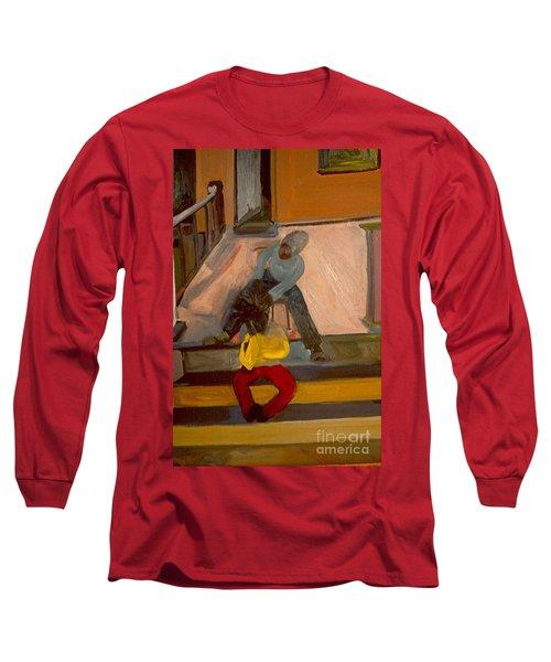 Gettin Braids Long Sleeve T-Shirt by Daun Soden-Greene
