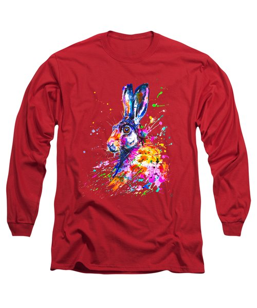 Hare In Grass Long Sleeve T-Shirt