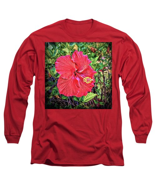 Long Sleeve T-Shirt featuring the photograph Hibiscus Flower by Lewis Mann