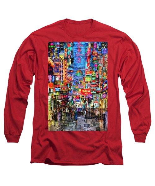 Hong Kong City Nightlife Long Sleeve T-Shirt