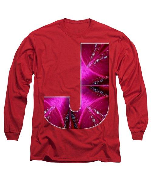J Jj Jjj  Alpha Art On Shirts Alphabets Initials   Shirts Jersey T-shirts V-neck Sports Tank Tops  B Long Sleeve T-Shirt