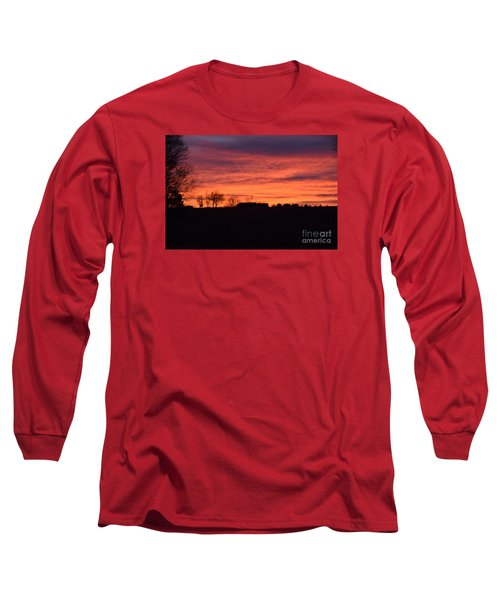 Long Sleeve T-Shirt featuring the photograph Kansas Sunset by Mark McReynolds