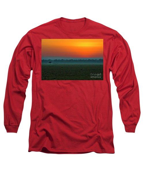 Long Sleeve T-Shirt featuring the photograph Masai Mara Sunrise by Karen Lewis