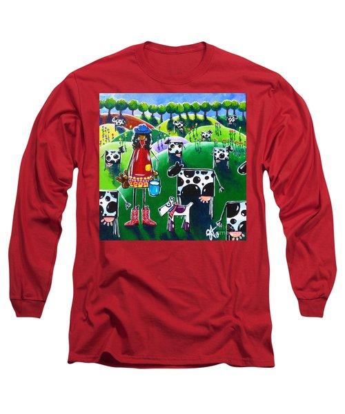 Moo Cow Farm Long Sleeve T-Shirt by Jackie Carpenter