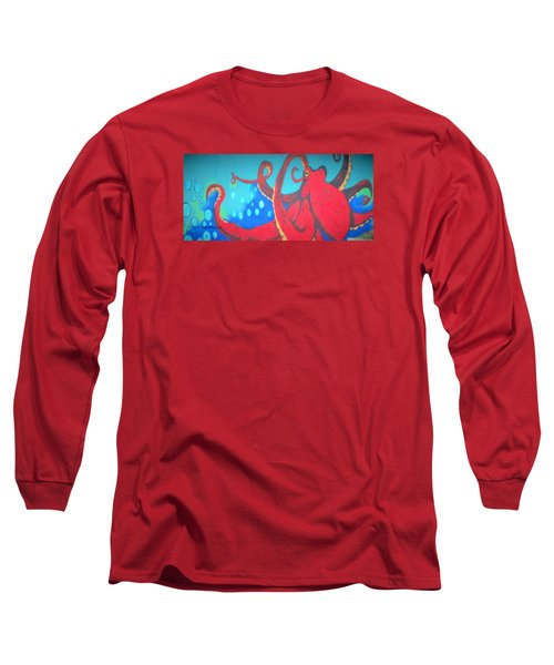 Octopus Long Sleeve T-Shirt by Martin Cline