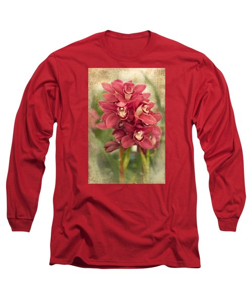 Orchid Long Sleeve T-Shirt by Catherine Lau