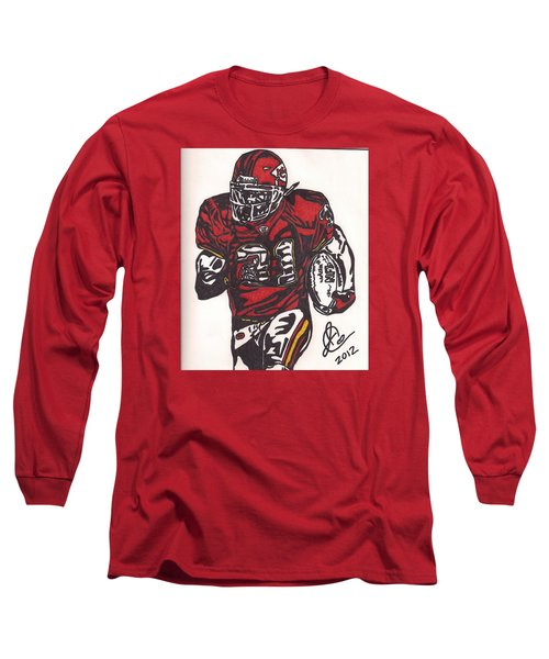 Long Sleeve T-Shirt featuring the drawing Priest Holmes 2 by Jeremiah Colley