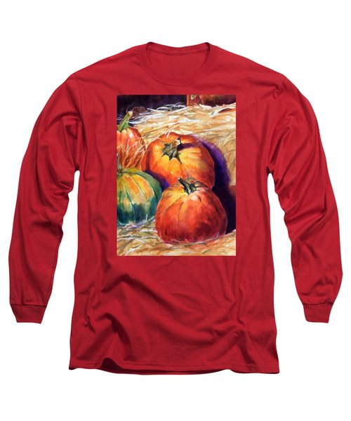 Pumpkins In Barn Long Sleeve T-Shirt
