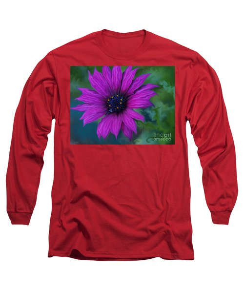 Long Sleeve T-Shirt featuring the photograph Purple by Trena Mara