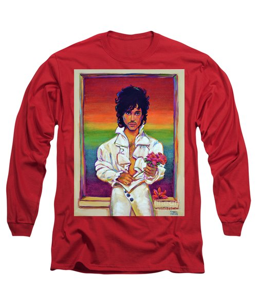 Long Sleeve T-Shirt featuring the painting Rainbow Child by Robert Phelps