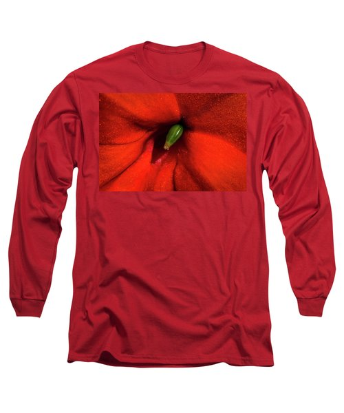 Red And Green Long Sleeve T-Shirt by Jay Stockhaus