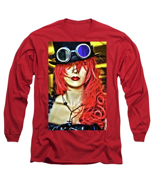 Red Long Sleeve T-Shirt by Newel Hunter
