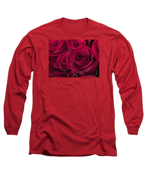 Red Red Roses Long Sleeve T-Shirt by Kay Gilley