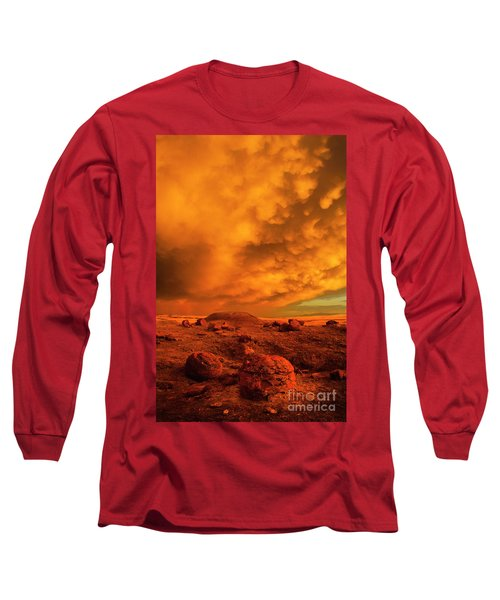 Red Rock Coulee Sunset 2 Long Sleeve T-Shirt