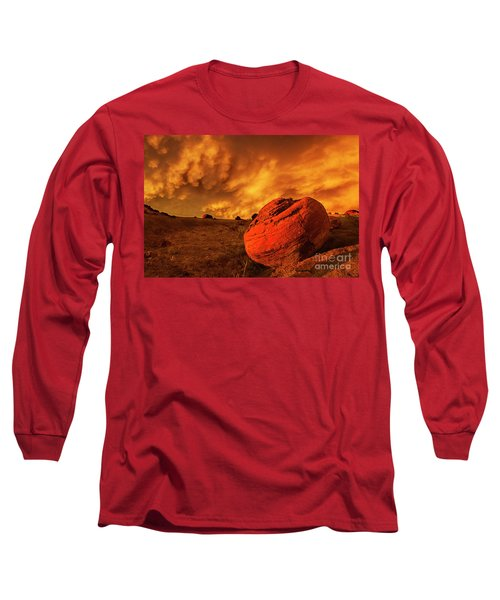 Red Rock Coulee Sunset 3 Long Sleeve T-Shirt