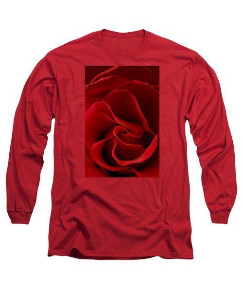 Red Rose Vi Long Sleeve T-Shirt by George Robinson