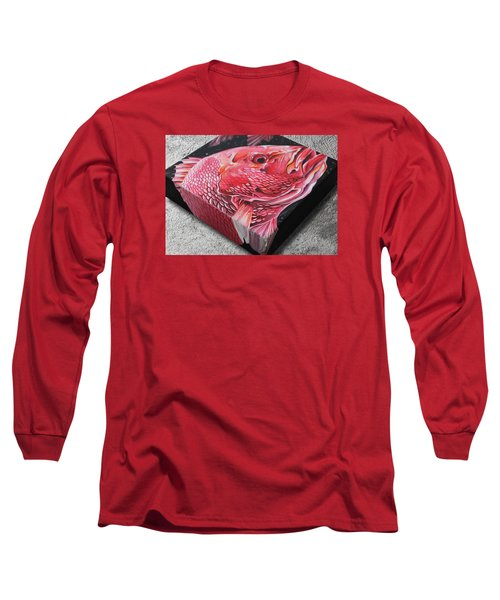 Red Snapper Long Sleeve T-Shirt by William Love
