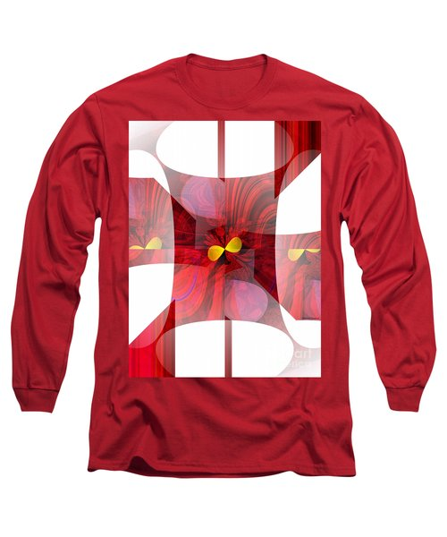 Red Transparency  Long Sleeve T-Shirt
