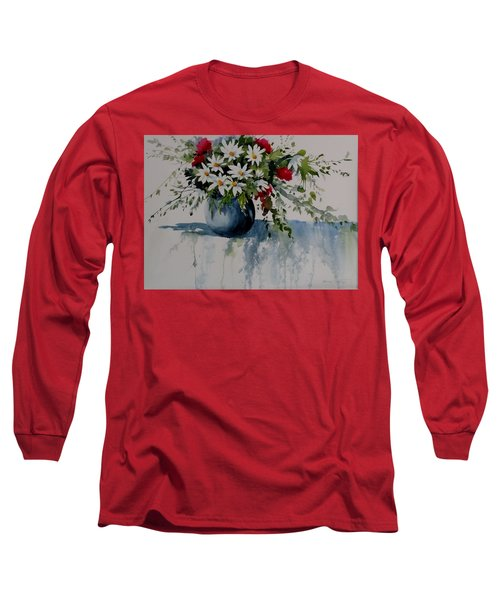 Red White And Blue Bouquet Long Sleeve T-Shirt