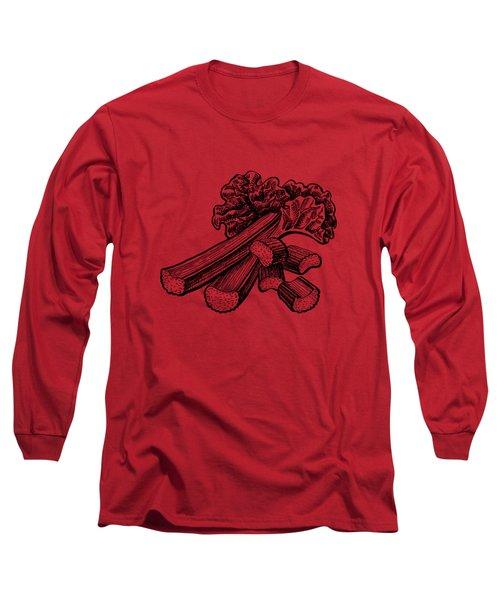 Rhubarb Stalks Long Sleeve T-Shirt